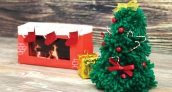 Ontdek hoe je zelf dit miniatuur kerstkunstwerkje kunt maken!
