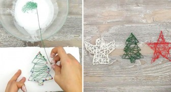 Decoraciones de bricolage: bastan hilo y pegamente para obtener estas simpatiquisimas formas