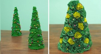 Make lovely miniature Christmas trees!