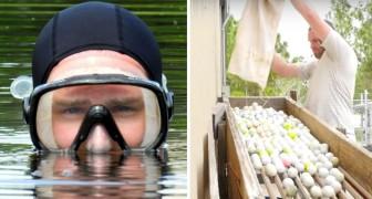 Ein ehemaliger Arbeitsloser verdient 15 Millionen Dollar... indem er in die Seen der Golfplätze abtaucht