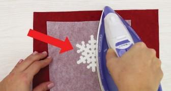 Ferro da stiro e perline di plastica: il risultato è un fiocco di neve perfetto!