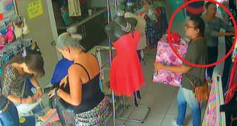 Two very clever shoplifters caught on camera!