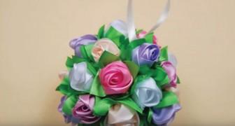 Ein selbstgemachtes Rosen-Bouquet: so wird es Schritt für Schritt gemacht, ganz einfach