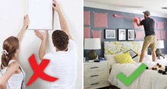 A che altezza appendere i quadri? E come disporli? Ecco la guida per non sbagliare