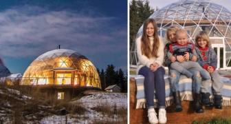Una famiglia abbandona la città per trasferirsi in una casa geodesica nel circolo polare artico