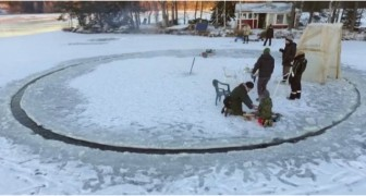 An Ice Carousel ? ---- a crazy but fun idea that actually works!