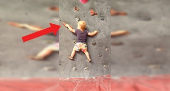 This little girl scaled climbing walls before she could walk!