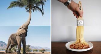 Creatività e senso dell'umorismo: questi originali mash-up fotografici vi divertiranno