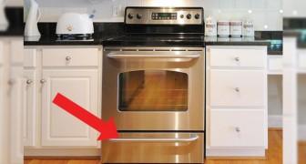 Saben cual es el VERDADERO uso de este cajon puesto bajo el horno?