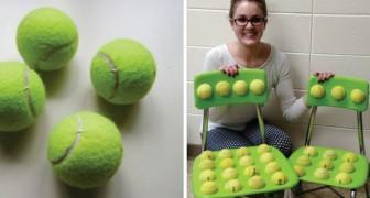 Sedie di palline da tennis per gli alunni: l'idea di una maestra che ha dato risultati insperati