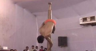 The pole dance Indian style