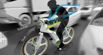 Convertire lo smog in aria pulita... pedalando: ecco la bicicletta che filtra l'aria