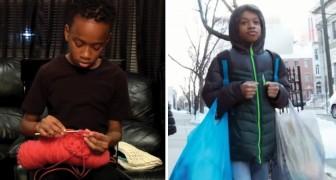 Cet enfant de 12 ans réalise au crochet des centaines de vêtements à donner aux sans-abri et aux hôpitaux