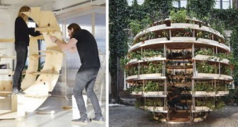 Architecten maken een doe-het-zelf-tuin die een heel appartementencomplex van eten kan voorzien