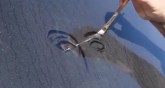 Dust art is so stunning --- you will never want to wash your car!