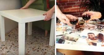 Colla e fotografie: come trasformare il tavolino da caffè IKEA in pochi passaggi