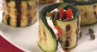 Involtini di zucchine grigliate: semplici, veloci, vegetariani, ma soprattutto... Buoni!