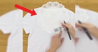 Trasformare una semplice maglietta bianca in qualcosa di più elegante? Niente di più semplice
