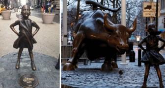 Une petite fille défie le taureau de Wall Street: la nouvelle statue de New York revendique la force des femmes