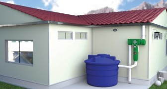 See rainwater transformed into safe drinking water!