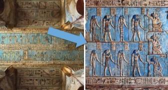 Na duizenden jaren is de best bewaard gebleven tempel uit het oude Egypte weer schitterend hersteld