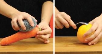 6 slimme trucs voor het eenvoudig schillen en pellen van groente en fruit!
