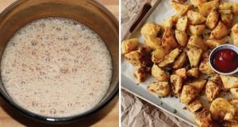 Knusprige Kartoffelecken ohne Öl. So bereitet man sie zu, als wären sie kross frittiert!