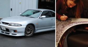 Il achète une voiture et laisse sa femme la décorer avec un marqueur: le résultat est au top!