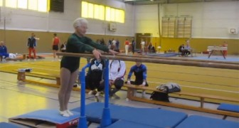 Who is the oldest active gymnast In the world? Johanna Quaas!