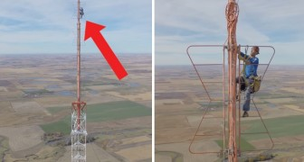Watch this guy climb a 1500 ft TV tower!  Wow!