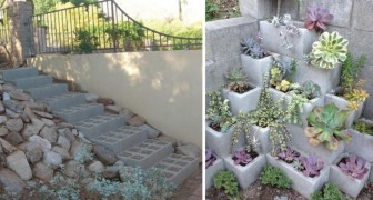 A fantastic DIY project --- A Cement Block Bench!