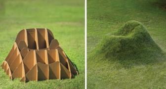 Quest'azienda italiana ha avuto un'idea geniale per far crescere mobili ricoperti di erba