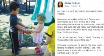 Je kinderen hoeven niet hun speelgoed te delen met anderen en deze moeder heeft zo haar redenen