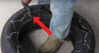 Wie man einen alten Reifen in einen schönen Blumentopf verwandelt