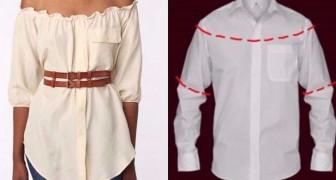 10 modos para transformar camisas masculinas em roupas femininas!