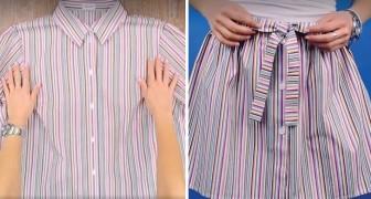 Ein altes Hemd in einen originellen Rock verwandeln, das ist leichter als man denken könnte