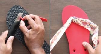 Du trägst Flip-Flops? Hier eine einfache und originelle Methode, damit der Plastikriemen nicht mehr stört