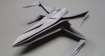 Pazzi per Star Wars? Ecco come costruire un'astronave con un foglio di carta