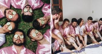 La sposa studia ingegneria informatica e ha tutti amici maschi: le foto con le Damigelle sono stupende