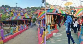 De bidonville à destination touristique populaire: voici le village arc-en-ciel en Indonésie