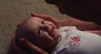 A father creates a very special moment with his baby girl!