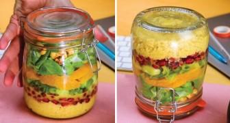 Salade de semoule au bocal, le déjeuner le plus pratique et savoureux que vous prendrez de la maison