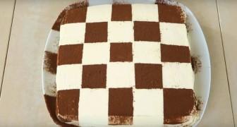 Tiramisù xadrez: o clássico doce italiano feito de um jeito diferente!