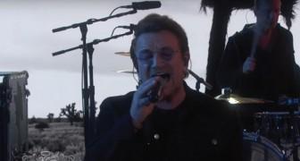 Una de las canciones mas bellas cumpe 30 años: los U2 cantan y se  emocionan inclusive