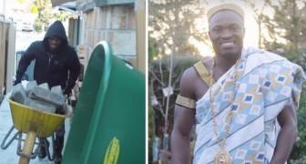 In Kanada arbeitet er als Gärtner, aber in Ghana ist er ein König. Die Geschichte dieses Mannes ist sehr inspirierend