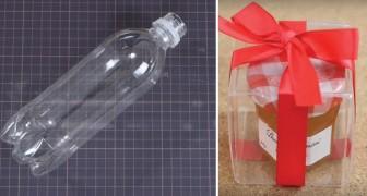 Como criar uma caixa de presente transparente utilizando garrafas plásticas
