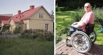 Ad un uomo disabile viene messa la casa all'asta: una persona misteriosa gliela compra e gliela restituisce