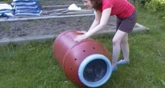 Uma ideia para realizar uma composteira econômica e cômoda para o jardim