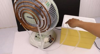 A pretty cool DIY air conditioner --- Pun intended! :)