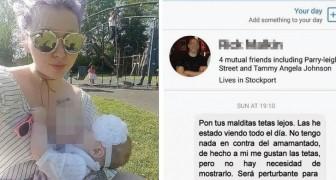 Un uomo la insulta per aver mostrato una foto di lei mentre allatta: la risposta della mamma è brillante